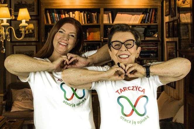 Katarzyna Dowbor i Elżbieta Witek w akcji Tarczyca, otocz ją opieką